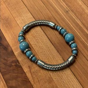 Stretch Bangle with Turquoise